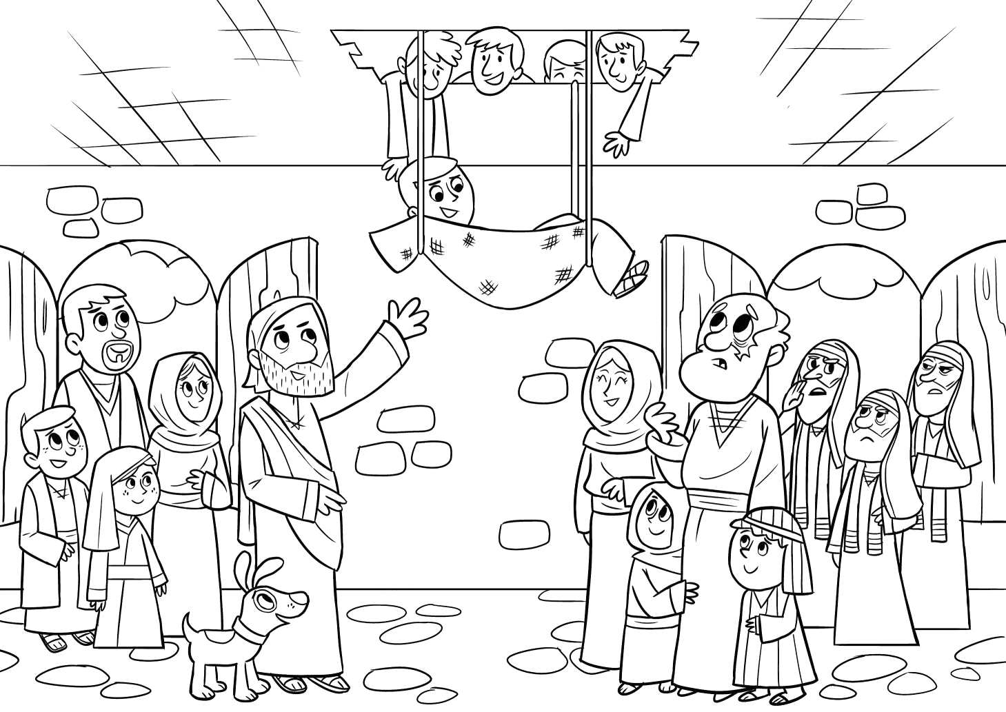 Jesus Heals the Paralytic Man Coloring Page Marvelous Jesus Heals the Paralytic Coloring Page Ten Sick