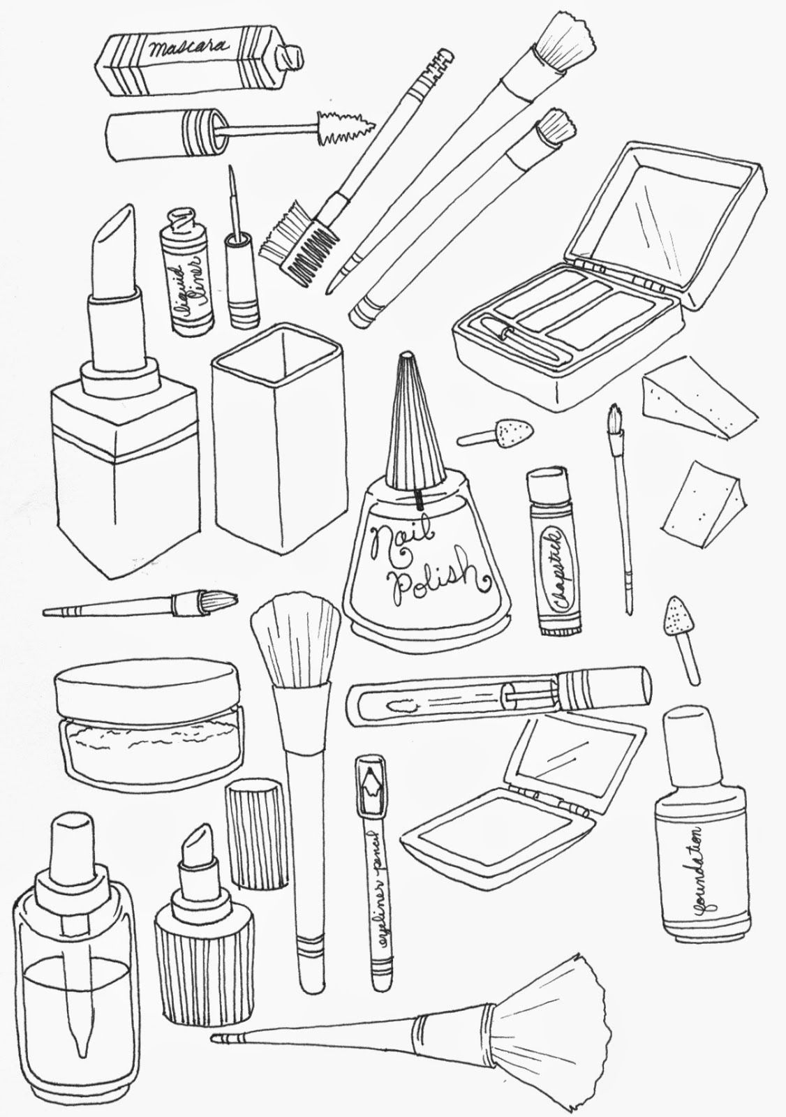 Make A Picture A Coloring Page Free Makeup Coloring Pages and Print for Free