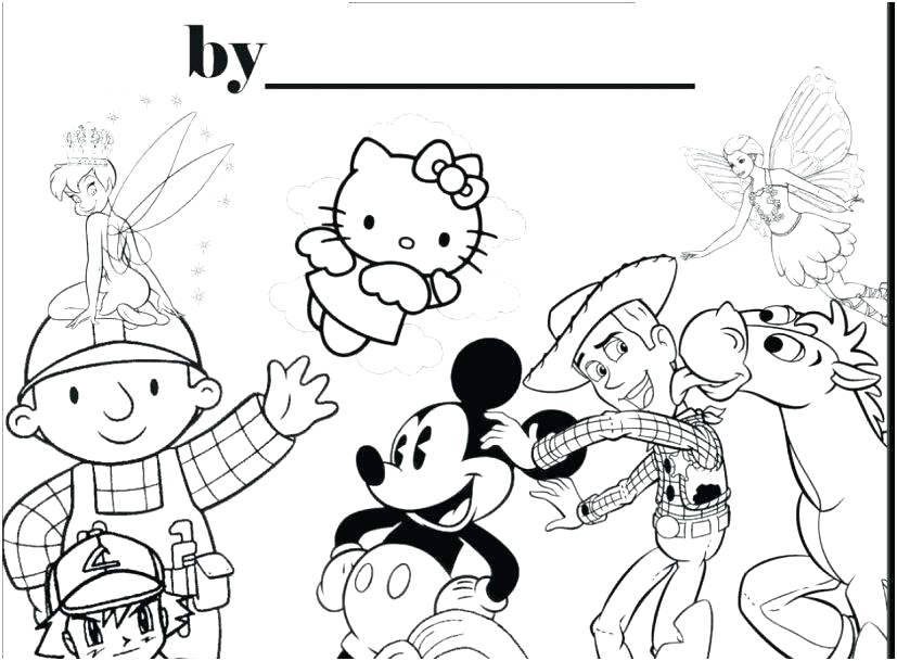 make a picture into a coloring page