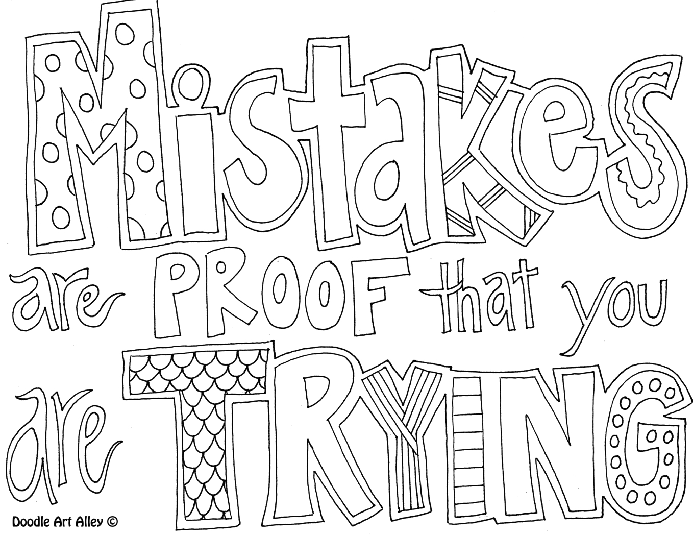 Mistakes are Proof that You are Trying Coloring Page Mistakes are Proof that You are Trying