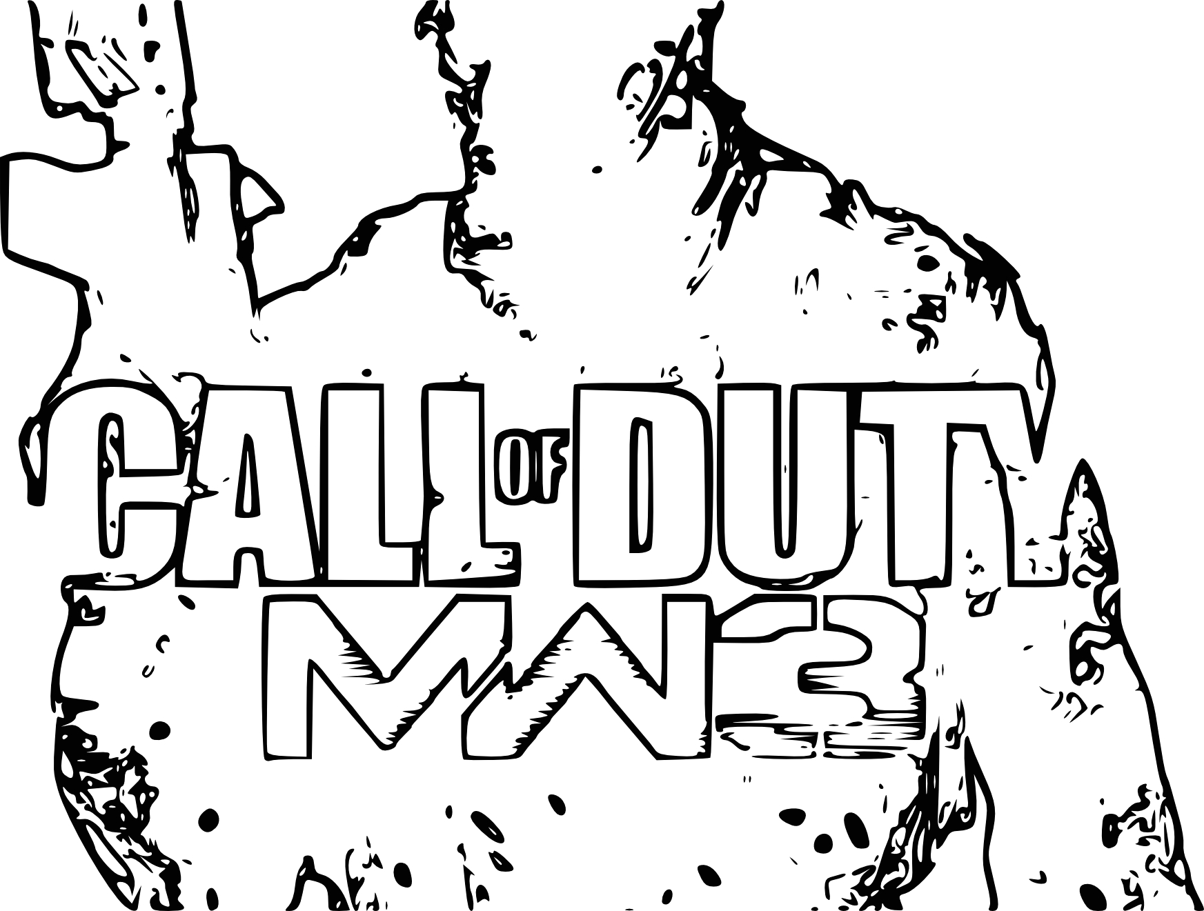coloriage call of duty mw3