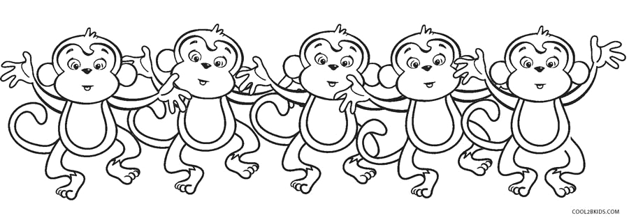 the 5 little monkeys jumping on bed coloring pages sketch templates