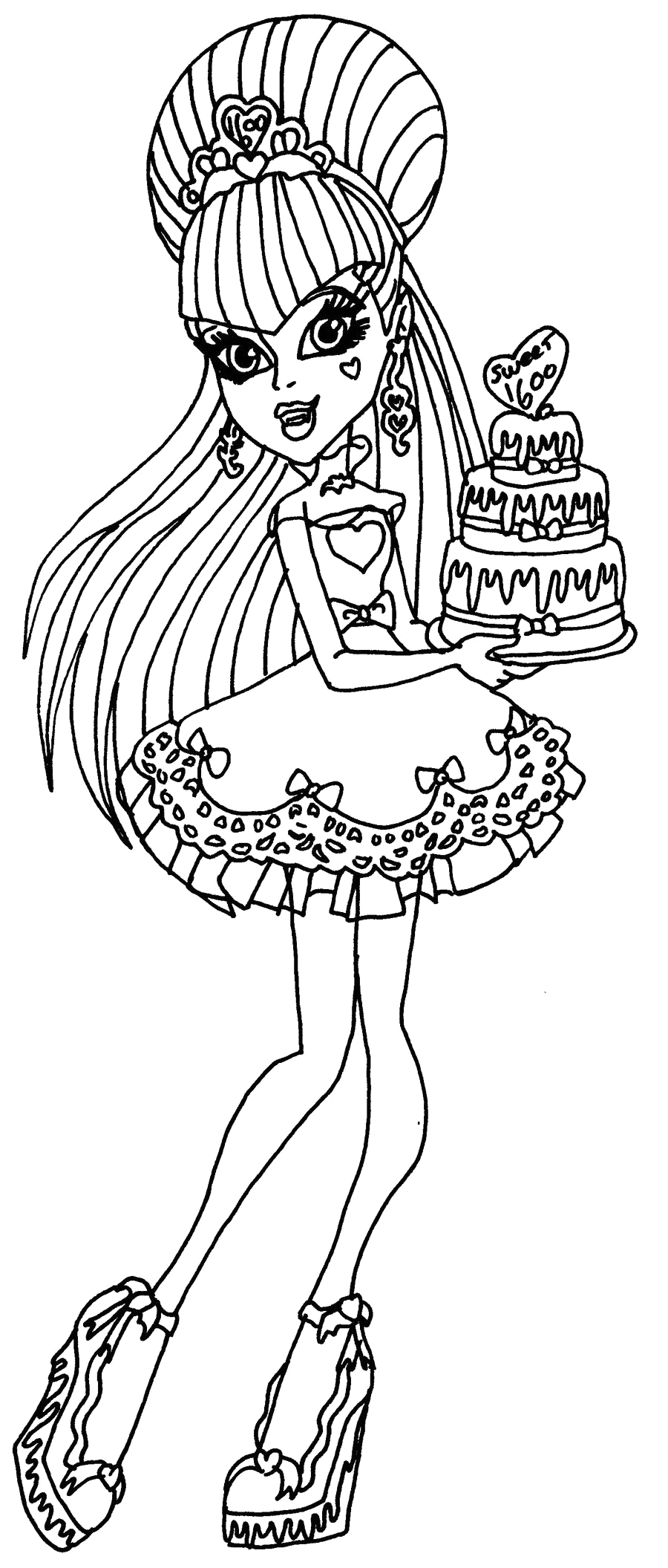 Monster High Draculaura Sweet 1600 Coloring Pages Draculaura Sweet 1600 by Elfkena On Deviantart