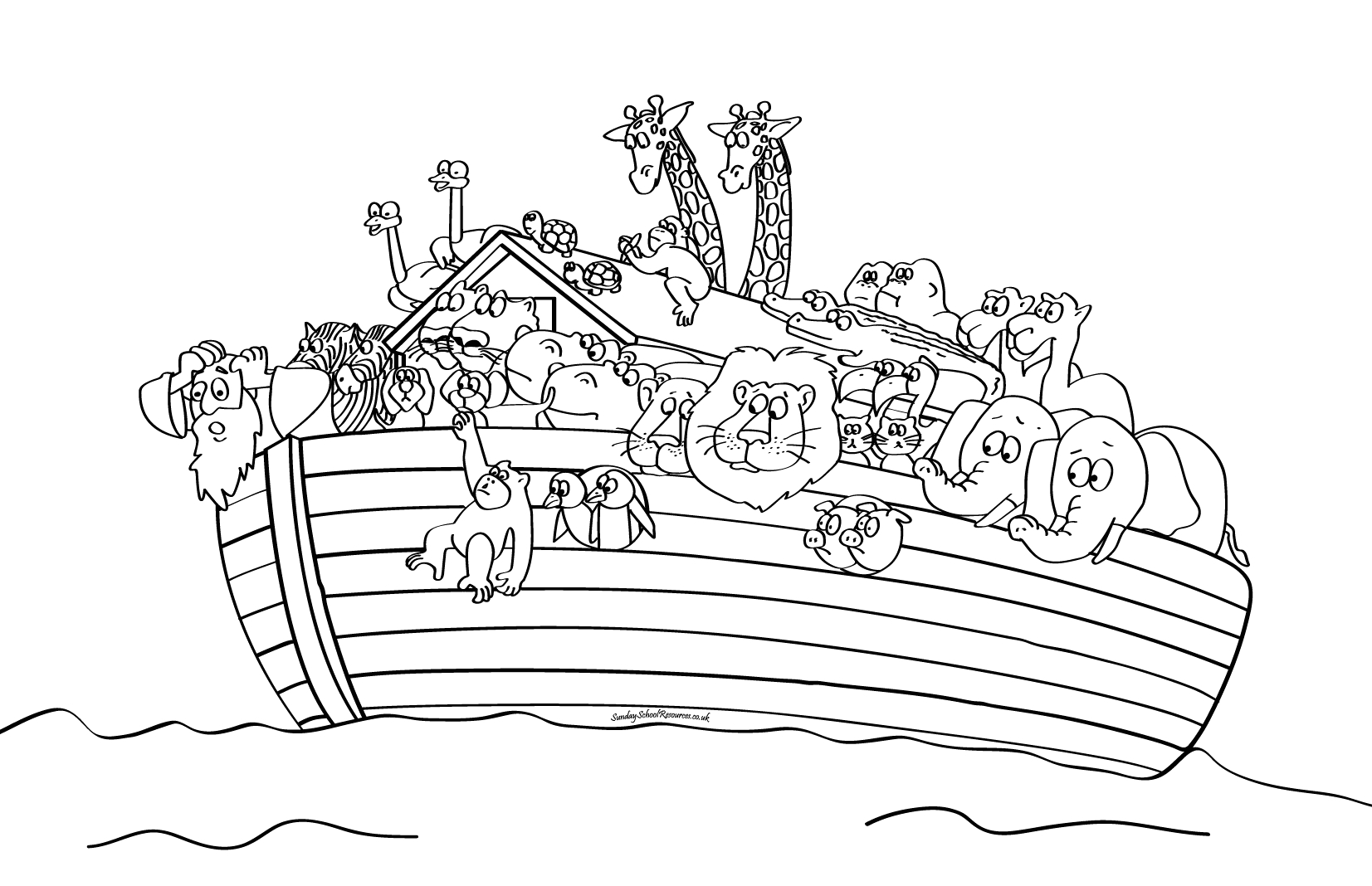 Noah and the Ark Coloring Pages to Print Sunday School Noah S Ark Bible Coloring Pages