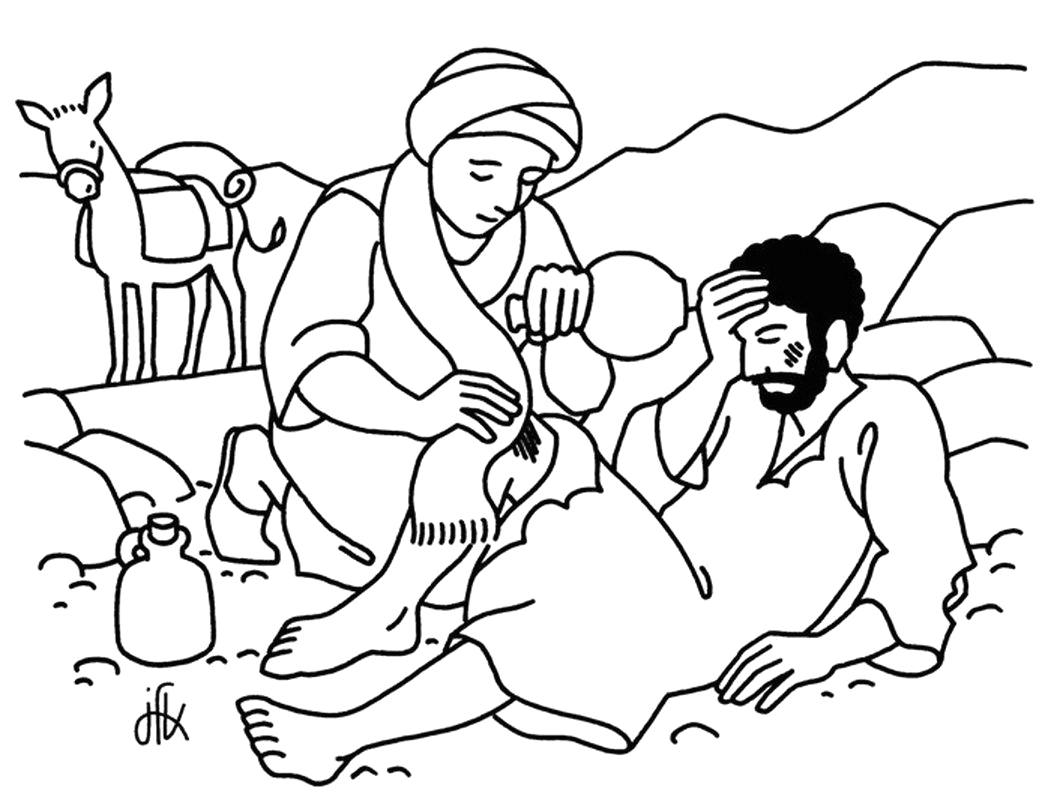 Parable Of the Good Samaritan Coloring Pages Good Samaritan Coloring Page … with Images