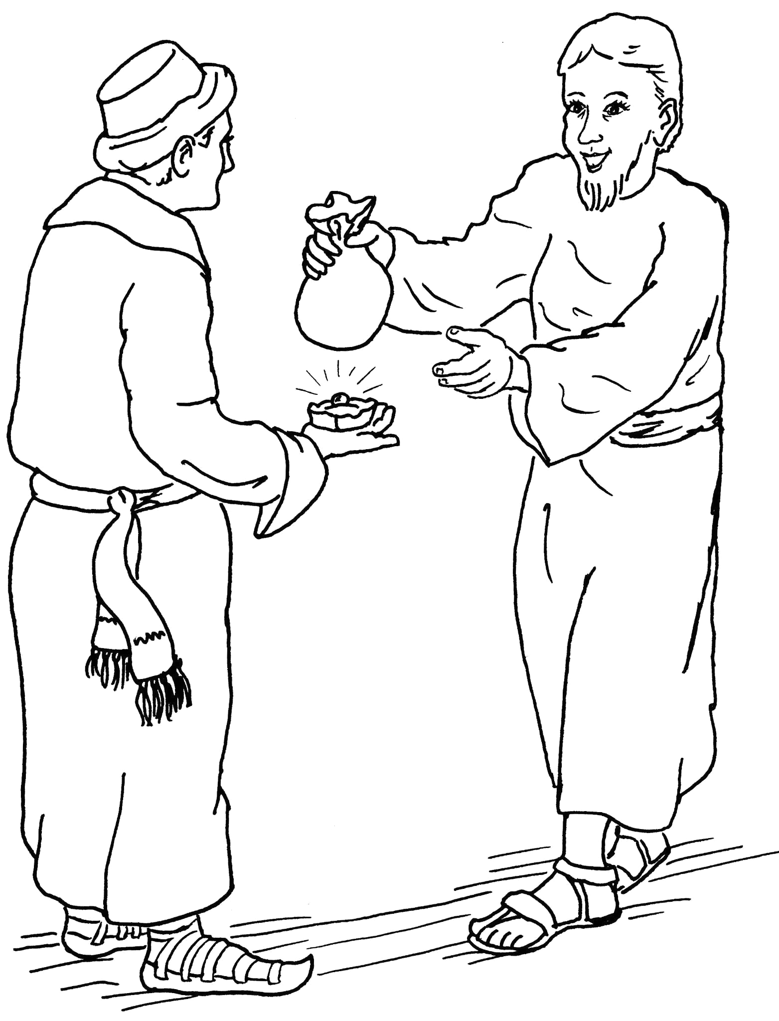 Parable Of the Hidden Treasure Coloring Page Parables the Pearl and Hidden Treasure Coloring Pages