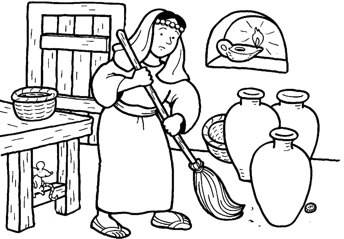 Parable Of the Lost Coin Coloring Page Parable Of the Lost Coin Coloring Page Images