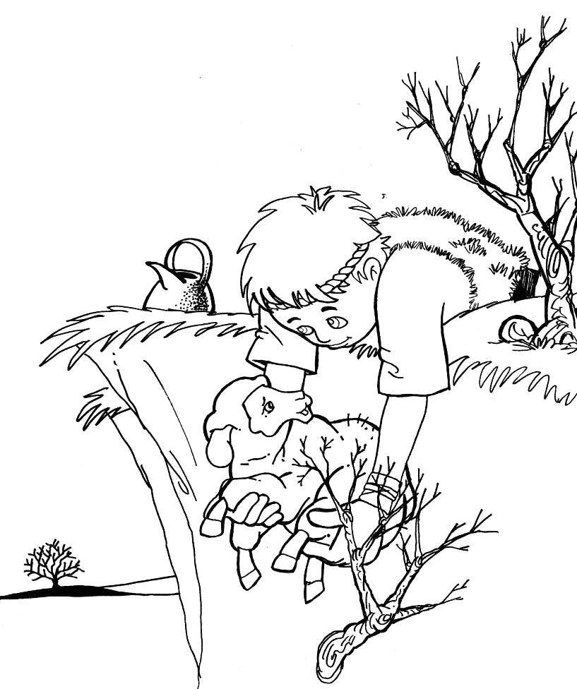 Parable Of the Lost Sheep Coloring Page Lost Sheep Coloring Pages