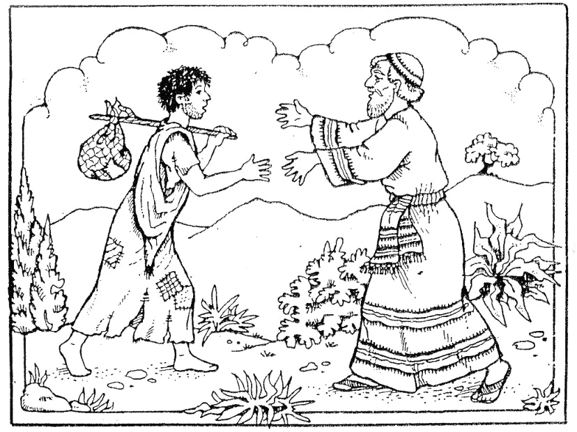 Parable Of the Lost son Coloring Page Parable Of the Lost son Coloring Page