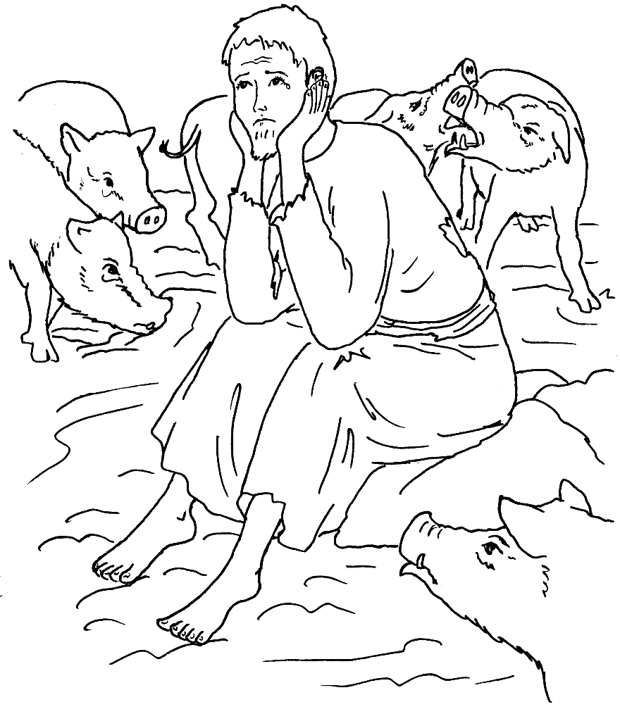 Parable Of the Prodigal son Coloring Page Parable Of the Prodigal son Coloring Pages