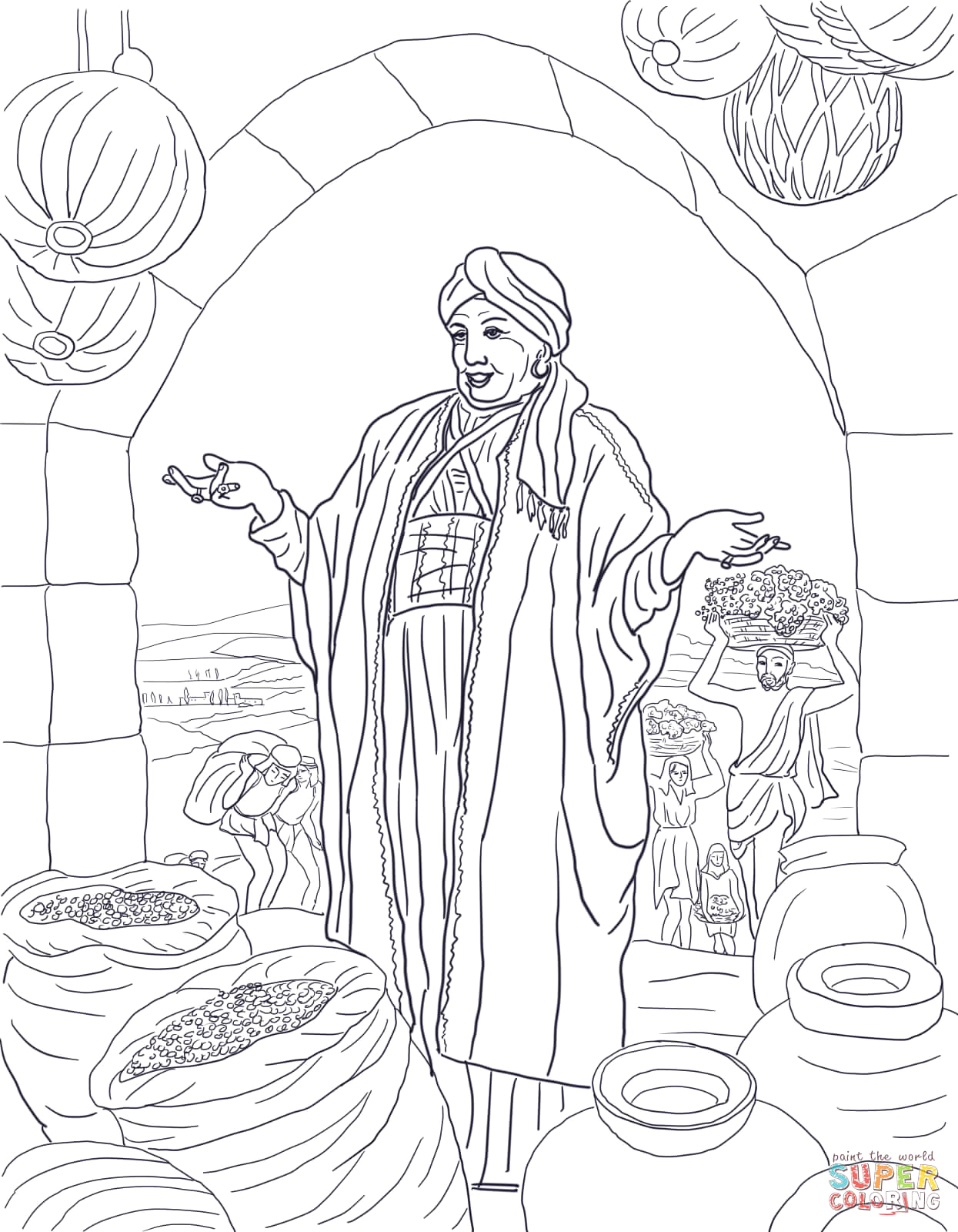 Parable Of the Rich Fool Coloring Page Parable the Rich Fool Coloring Page