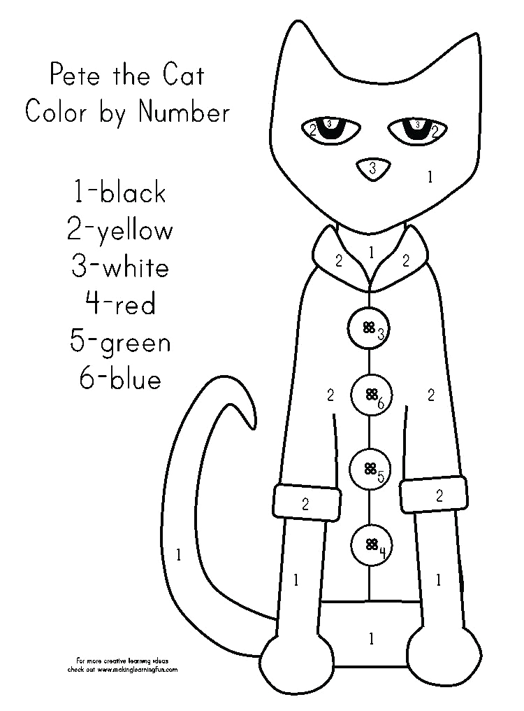 pete the cat coloring page