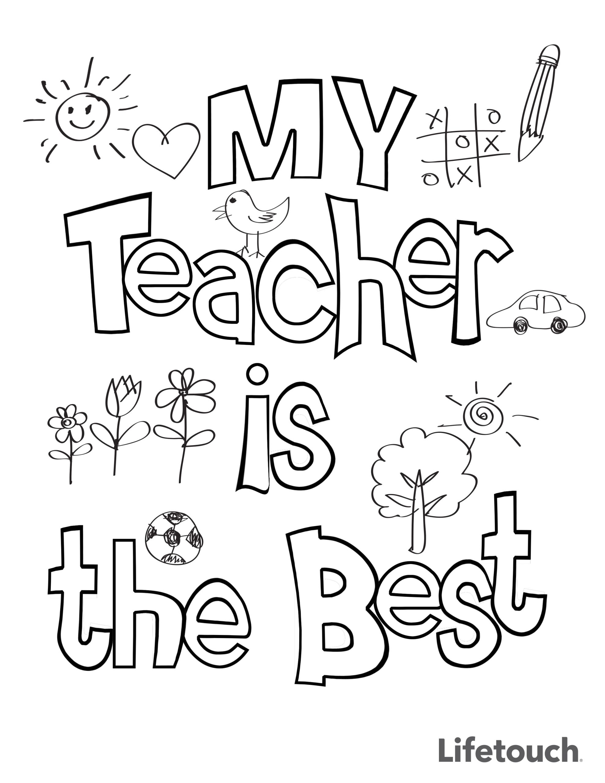 Printable Coloring Pages for Teacher Appreciation Week Teacher Appreciation Coloring Sheet