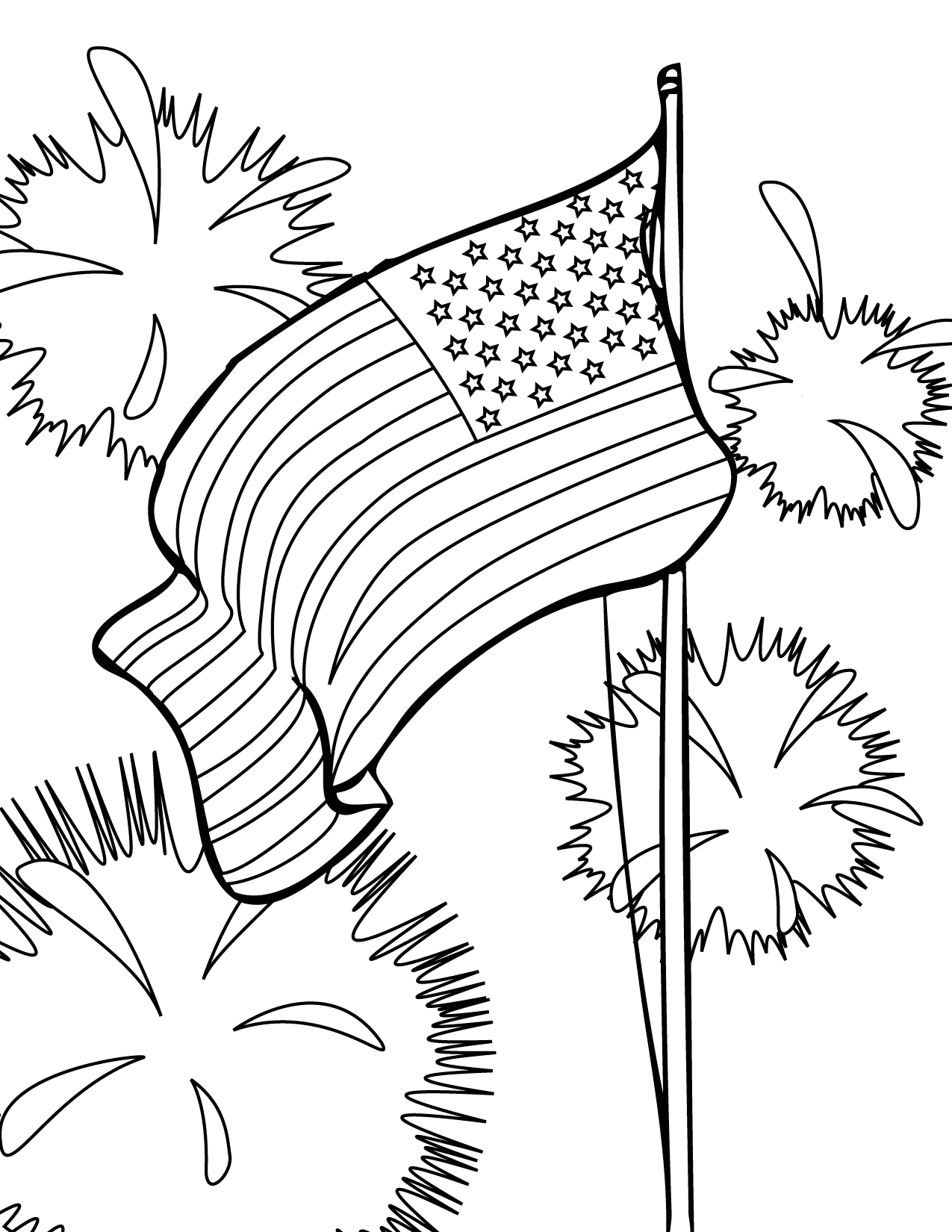 Printable Coloring Pages for the 4th Of July 4th Of July Coloring Pages