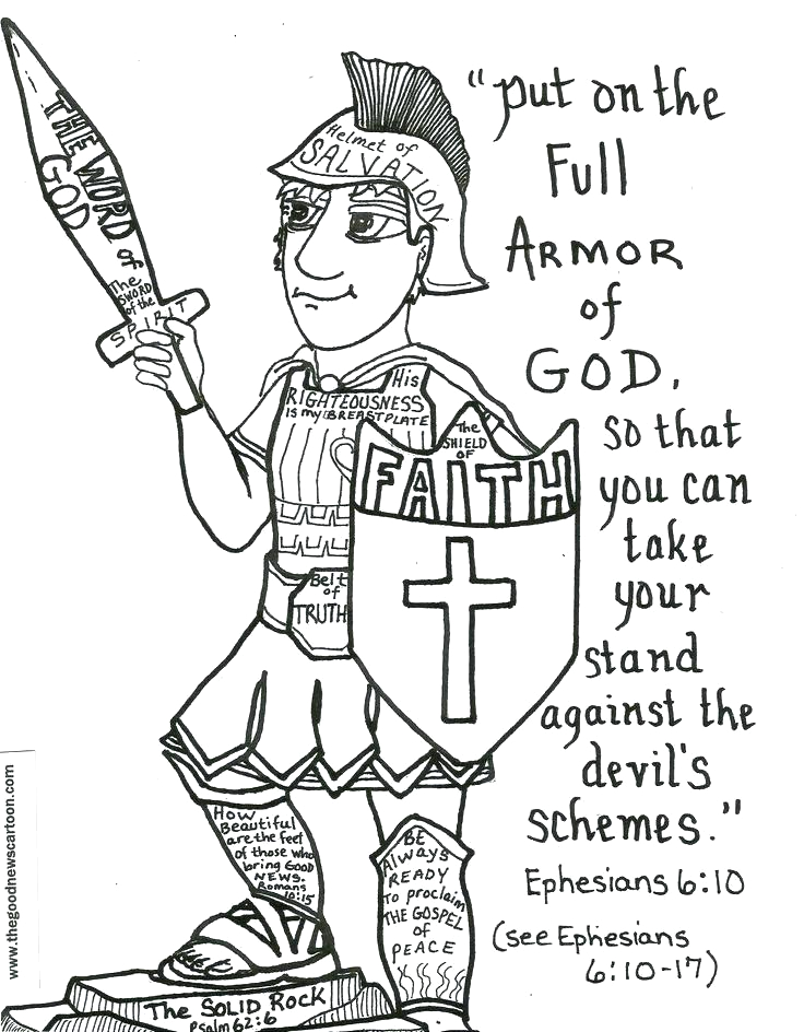 Printable Coloring Pages Full Armor Of God Armor God Coloring Pages at Getcolorings