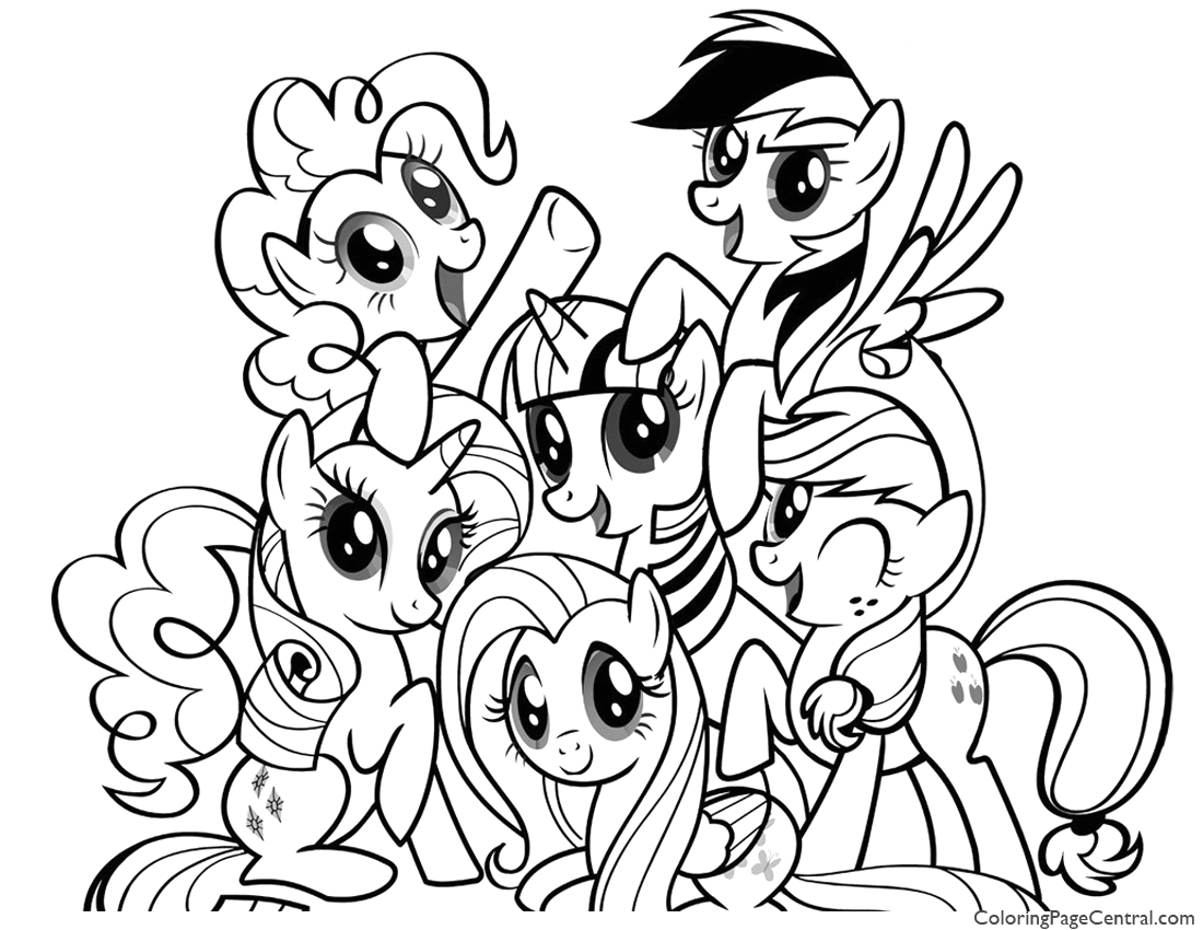 my little pony friendship is magic 01 coloring page