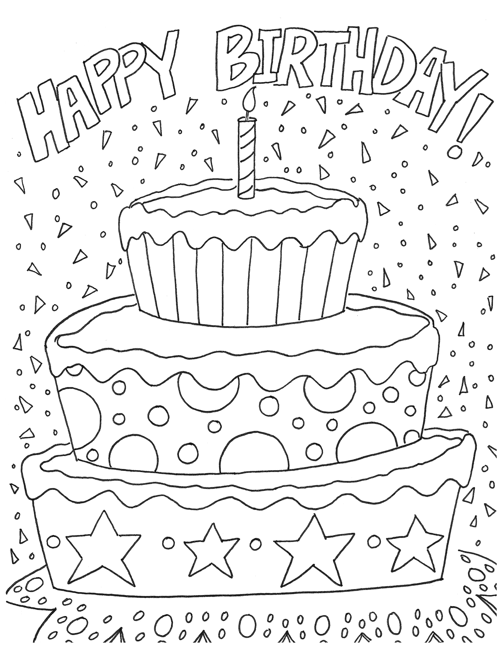 Printable Coloring Pages that Say Happy Birthday Free Happy Birthday Coloring Page and Hershey