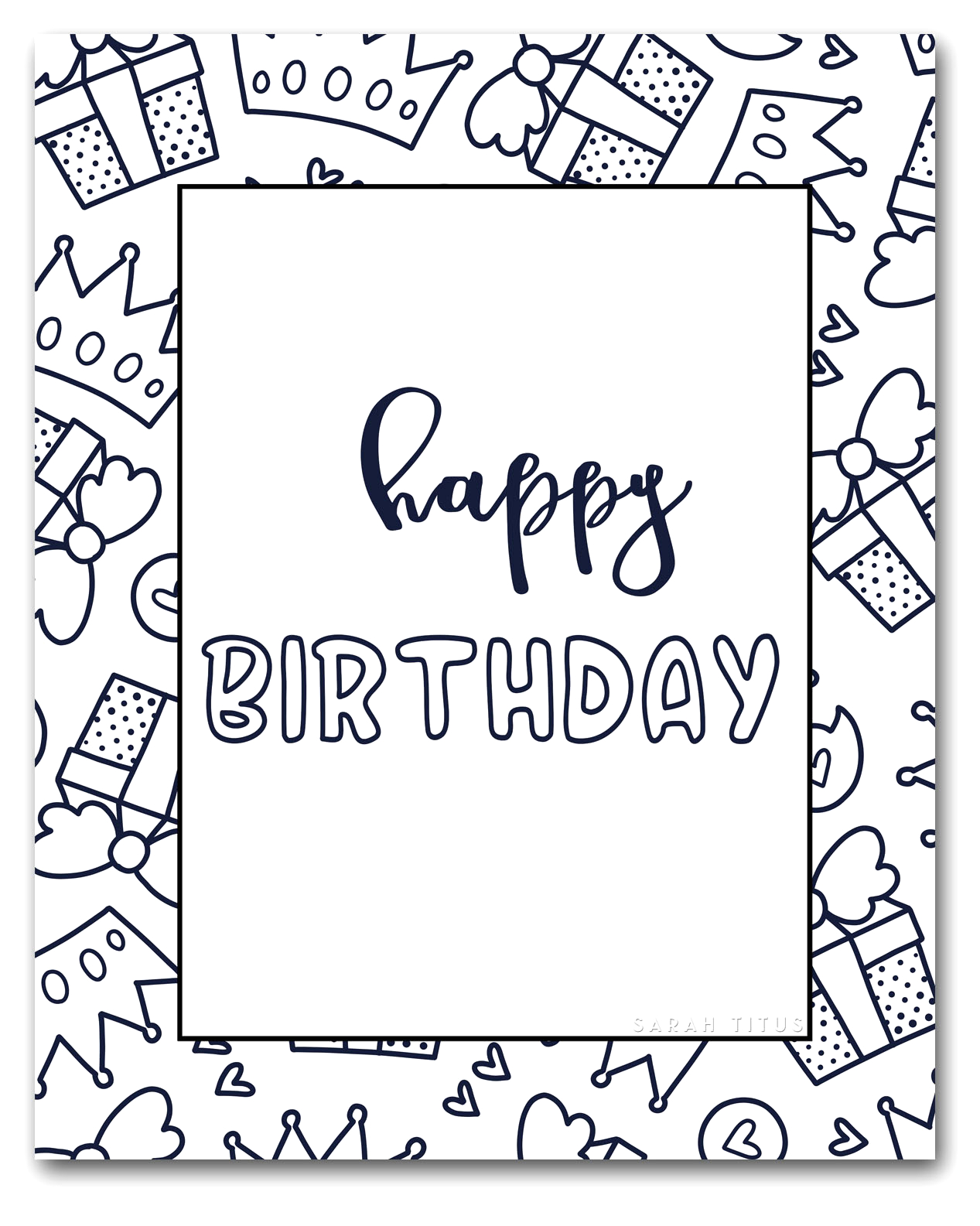 free happy birthday coloring sheets