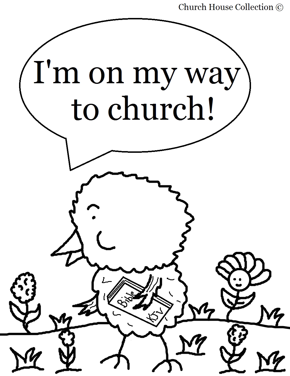 easter chick coloring page for sunday