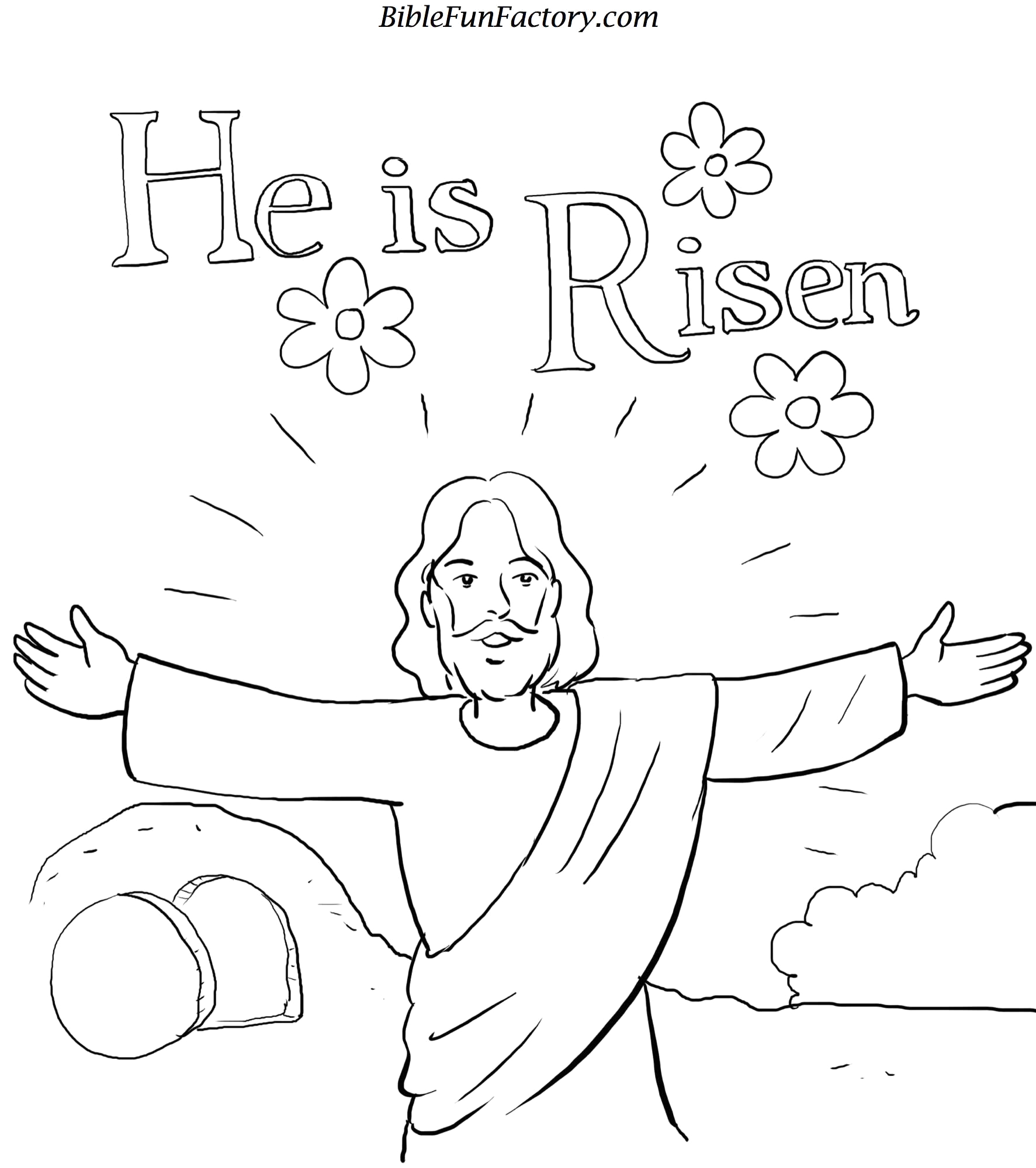Printable Easter Coloring Pages for Sunday School Easter Coloring Sheet Bible Lessons Games and