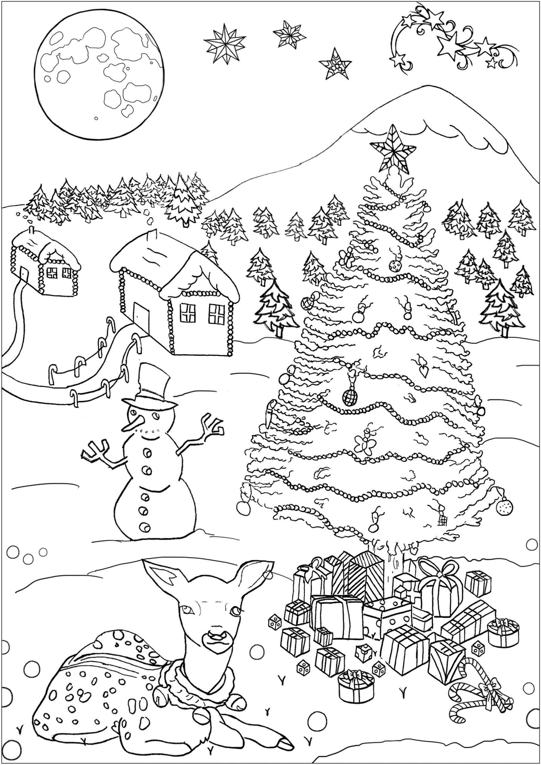 image=christmas coloring pages for children christmas 1