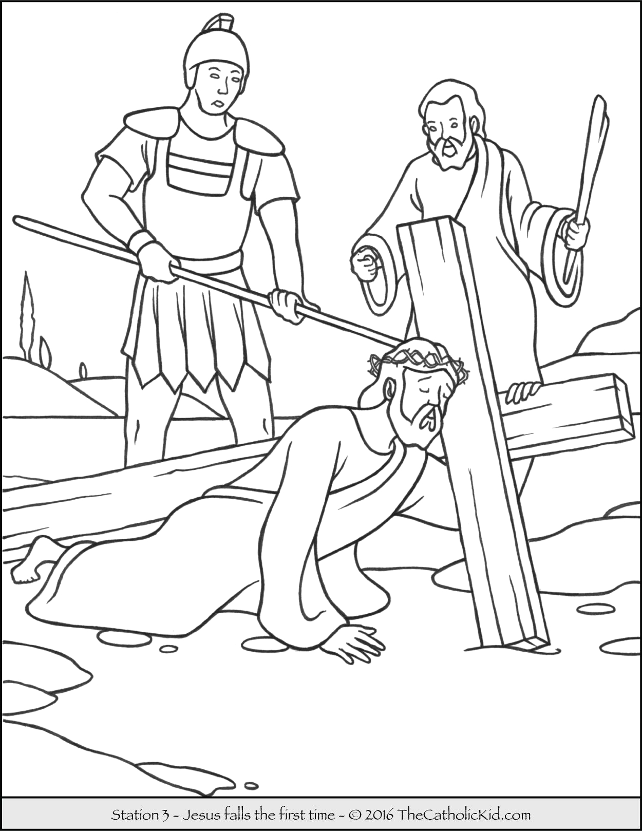 Stations Of the Cross Coloring Pages for Children Stations the Cross Coloring Page Coloring Home