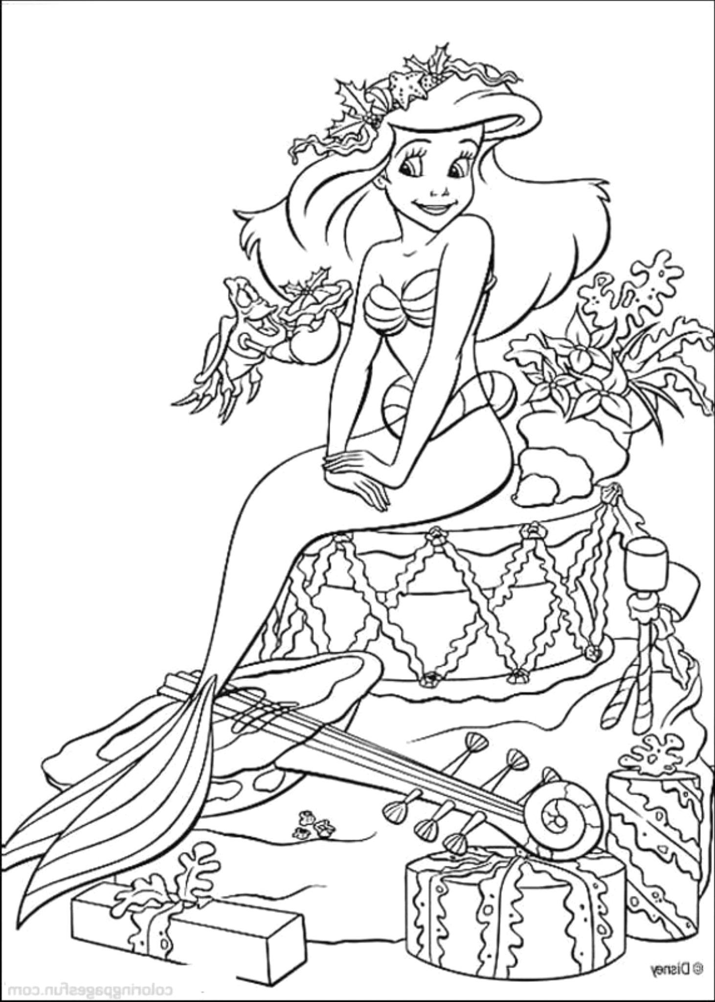 The Little Mermaid Coloring Pages Free to Print Print & Download Find the Suitable Little Mermaid