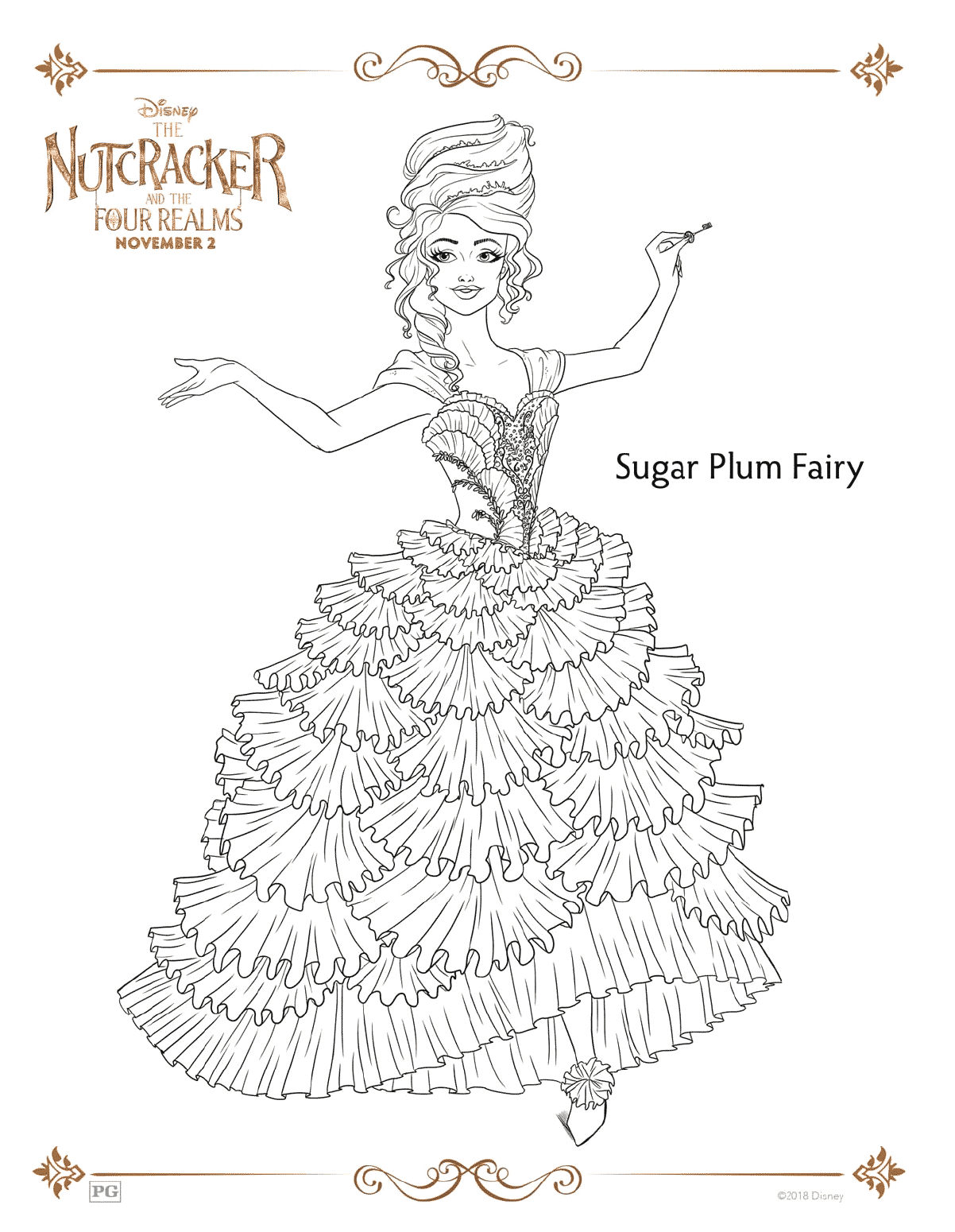 The Nutcracker and the Four Realms Coloring Pages the Nutcracker and the Four Realms Free Coloring Pages