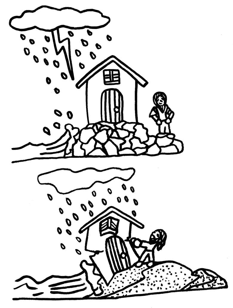 Wise Man and Foolish Man Coloring Page Ldsfiles Clipart Wise Man Foolish Man Coloring Page