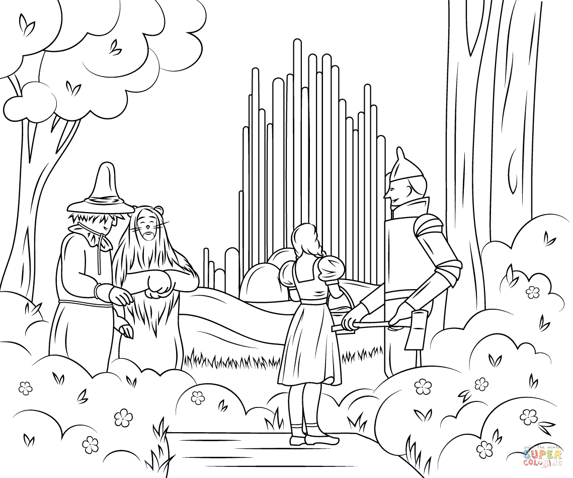 Wizard Of Oz Coloring Pages Emerald City Wizard Of Oz Emerald City Coloring Page